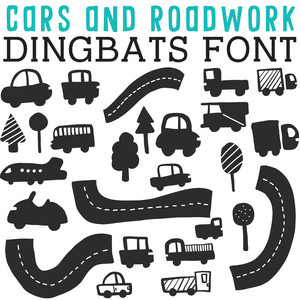 cg cars and roadwork dingbats