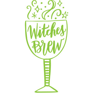 witches brew wine goblet