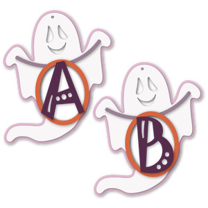 ghost tag a or b letter card