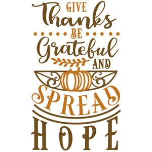 thanks grateful spread hope