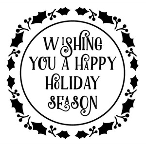 wishing you a happy holiday season