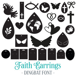 faith earrings dingbat font