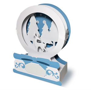 winter scene snow globe box card