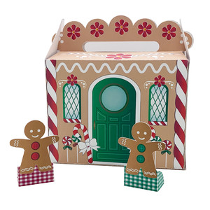 gable box christmas house and gingerbread people