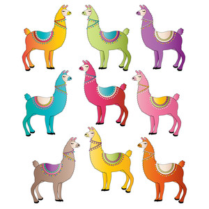 magical llamas in many colors