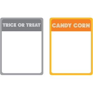 set of 2 trick or treat journaling cards