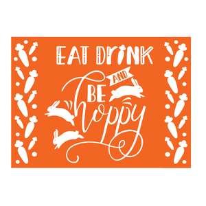 eat drink and be hoppy stencil design