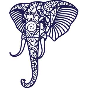 elephant mandala zentangle