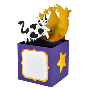 the cow jumped over the moon card in a box