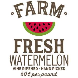 farm fresh watermelon