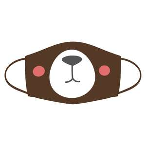 silly bear face mask