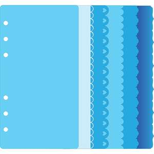 6-ring mini a6 binder decorative edge page set