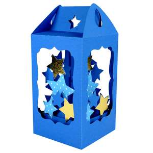 star filled lantern