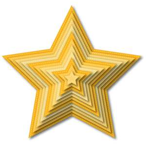 nested stitched star