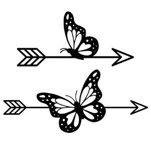 butterfly arrows set