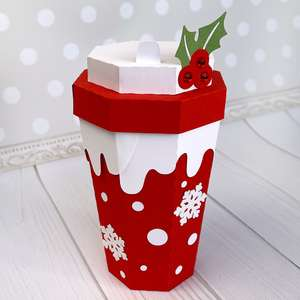 winter coffee cup box