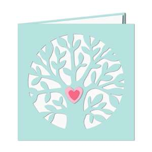 circle tree with heart card