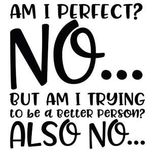 am i perfect? no... quote