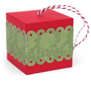 3d box scalloped band christmas tree ornament