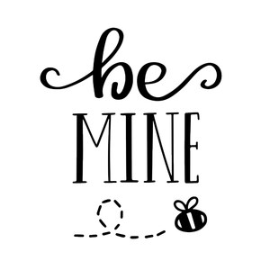 be mine bumble bee handlettering
