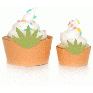 easter carrot cupcake wrappers