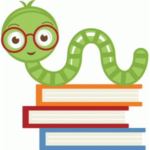 Image result for bookworm cute