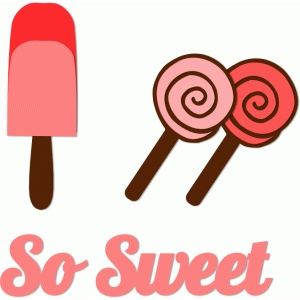 'so sweet' ice lolli set