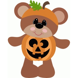 pumpkin bear halloween costume