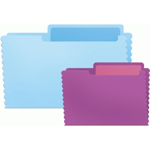 journaling folder set - scalloped