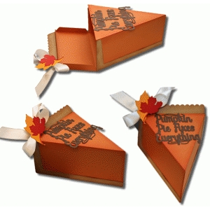 3d pumpkin pie box