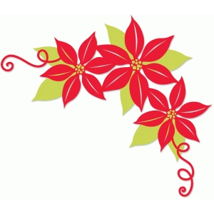 poinsettia corner flourish