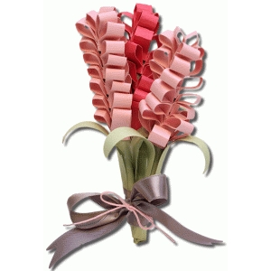 3d coned shaped flower