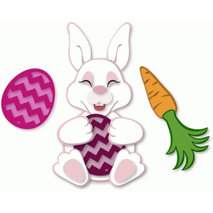 bunny with egg & carrot