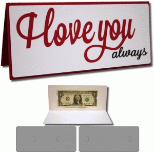 i love you always 4x9 card