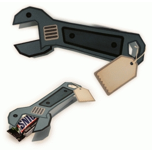 wrench shaped candy bar wrap
