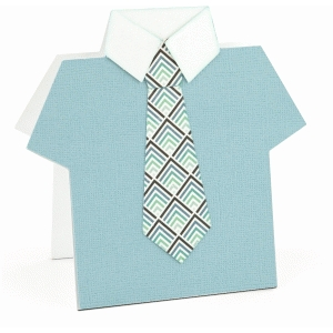 father's day shirt & tie card