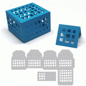 treasure box with grid pattern