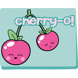 cherry kawaii card