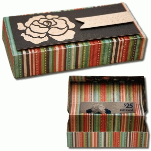 3d pop up gift card rose box