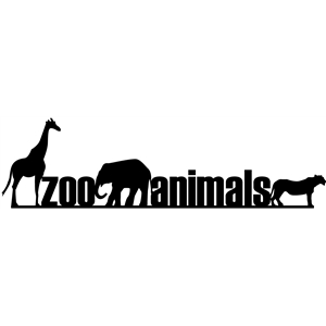 border - zoo animals