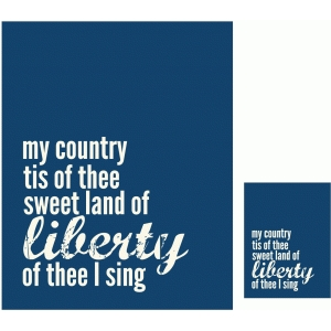 my country traditional print and cut quote card
