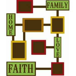 family, love & faith photo collage