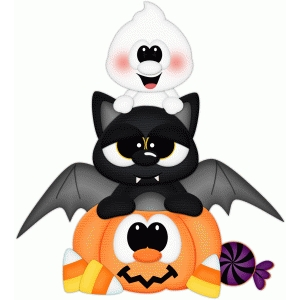 bat & ghost w candy pnc