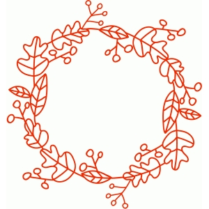 leaf & berry wreath frame
