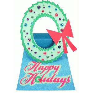 wreath easel card