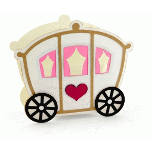 3d princess carriage favor box