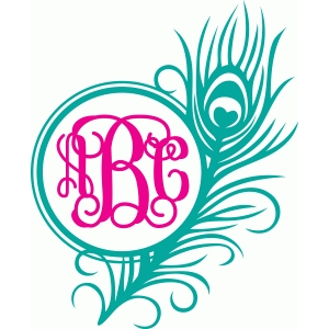 peacock monogram frame