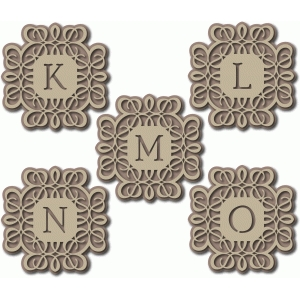 flourish monogram klmno