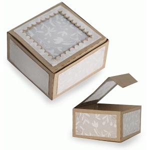 vellum top scallop box