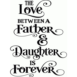 love between a father & daughter title